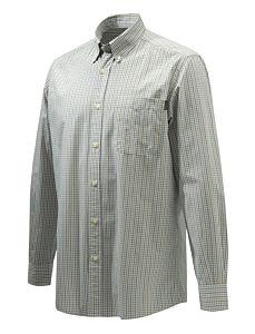 Camicia Wood Button Down Ocra e Azzurro Beretta
