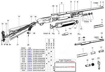 A300/1/2/3  calibro20 completo Beretta