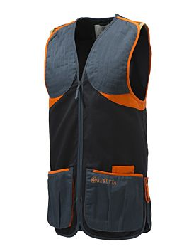 Beretta Gilet Da Tiro Full Cotton Black & Orange Beretta