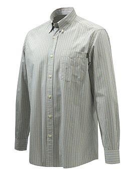 Camicia Wood Button Down Ocra e Azzurro Beretta