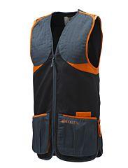 Beretta Gilet Da Tiro Full Cotton Black & Orange Beretta
