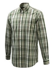 Camicia Wood Button Down Verde Viola e Crema Beretta