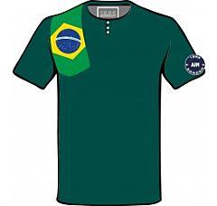 T SHIRT - FLAG- BRASILE GORDON
