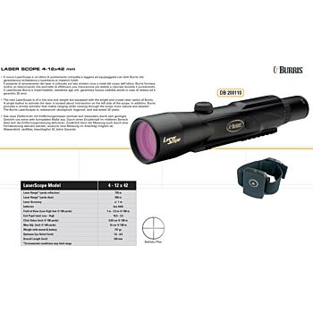 NEW BALLISTIC LASER SCOPE 4-12X42 Burris