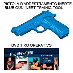 PISTOLA BLU ADDESTRAMENTO  INERTE  E DVD TIRO OPERATIVO