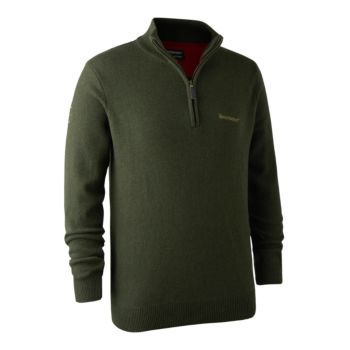Maglione Hastings Zip Verde Deerhunter